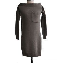 100% mujeres de cachemira hecho punto jersey de manga decorativa