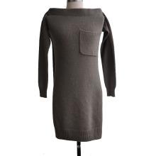 Pull à manches décoratives en tricot à 100% en cachemire