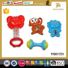 Plastic 4pcs baby rattle toy