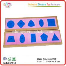Montessori Lehre Spielzeug - Metalleinlagen mit 2 Ständern