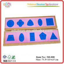 Montessori Juguetes didácticos - Insertos metálicos con 2 soportes