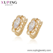 94920 Chinese style lady jewelry inlay color zircon fine quality cheap designer copper alloy earring for sale