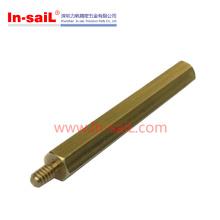 Standoff de bronze / alta qualidade compatível com RoHS Spot do produto M3 8mm resistente