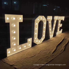 4f love big marquee  wedding giant letter lighting with bulbs for wedding decorate