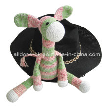 Hand Crochet Donkey Stuffed Animal Toy Doll Baby Gift