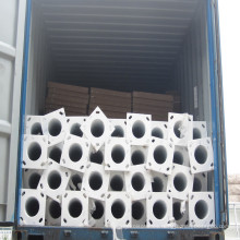 Q235 galvanizado en caliente de Alta calidad octogonal postes de luz de calle doble brazo fabricantes en china