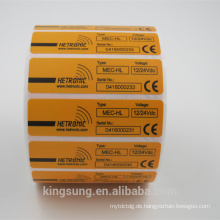 Herstellung, die kundengebundene PVC-Aufkleber-Aufkleber-Rolle mit permanentem Kleber druckt