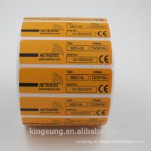 Fabrique el rollo modificado para requisitos particulares de la etiqueta autoadhesiva del PVC con el adhesivo permanente
