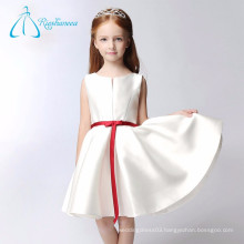 Cheap Short A Line Sash Bow Satin Flower Girl Dress Patterns