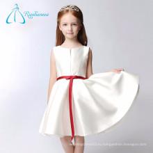 Дешевые Короткие Линии Лента Бант Атласная Цветочница Платье Шаблоны