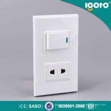 1 Gang Switch 2 Pin Socket para o mercado latino-americano