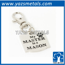 Pet Dog Collar Tag Charm My Master Is A Mason