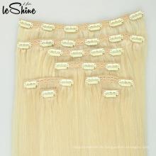 Weihnachtsverkaufs-Promotion-nahtlose PU-Haut-Schuss-Klipp in der Haar-Erweiterung