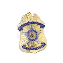 Military Badge Custom Metal Cop Badge Security Badge (GZHY-KA-018)