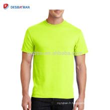 Personnalisé de haute qualité promotionnel haute visibilité Hi-Vis complet jaune ou Orange Polyester Mesh T-shirts pour le travailleur