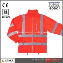 Hivis Red Reflective Fleece Jacket