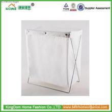 Newest ! Wholesale Foldable fabric White Wooden Magazine Storage rack