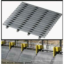Korrosionsbeständigkeit Verschleiß Lebensdauer Sizing von Feststoffen Vee Wire Screen Panel