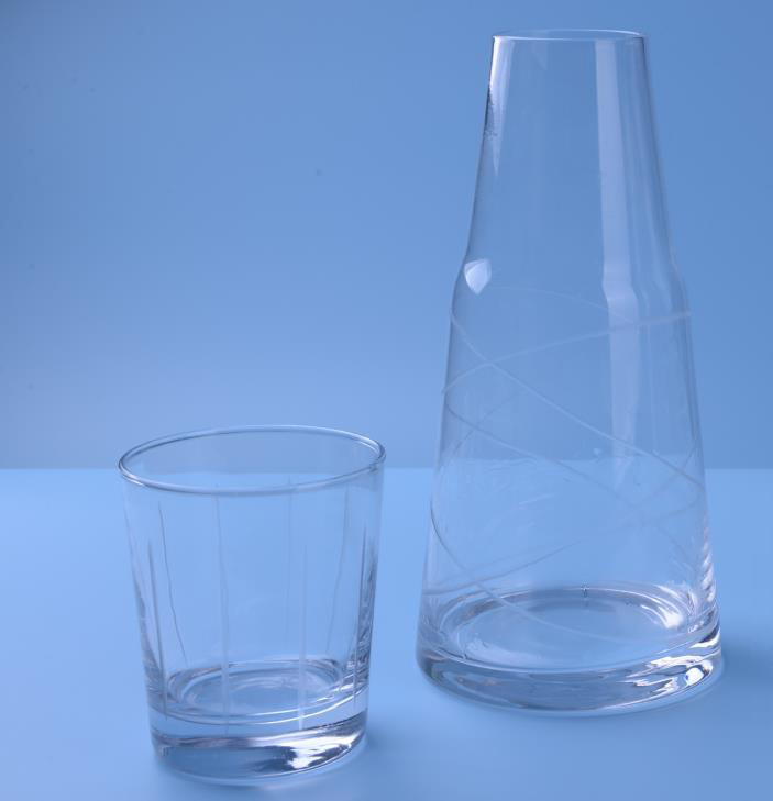 Clear Bedside Water Carafe Set
