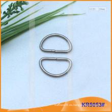 Tamaño interior 20mm Metal Hebillas, Regulador de metal, Metal D-Ring KR5053