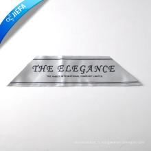 Étiquette tissée de broderie attrayante pour le logo Hometextiles