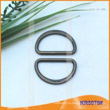 Tamaño interior 25mm Metal Hebillas, Regulador de metal, Metal D-Ring KR5070