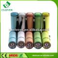 Botão liga / desliga mini 9 lanterna de alumínio led com alça