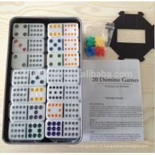 Double 12 Domino set Com caixa de lata