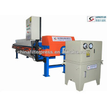 Prensa de filtro de cámara multifuncional con sistemas de cambio automático
