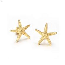 Brincos estrela de ouro da moda, brincos de ouro para as mulheres