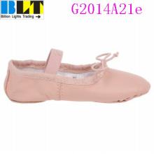 Zapatos planos del estilo del ballet ocasional rosado de la muchacha de Blt
