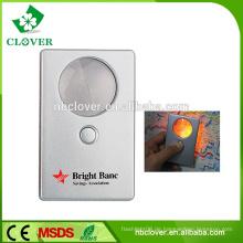 Portable zum Lesen der Kreditkartengröße Lupe mit Licht