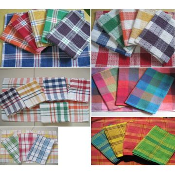 Te Handduk Engros Classic Plaid Cotton Tea Handdukar