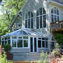Aluminio Irregular en forma de doble vidrio templado jardín Sunroom (FT-S)