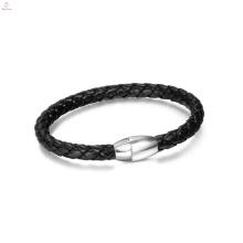 Fashion cheap leather bracelet, bio magnetic leather bracelet