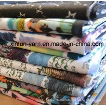 Tissu imprimé coloré pour la belle robe / vêtement / d'autres vêtements de conception