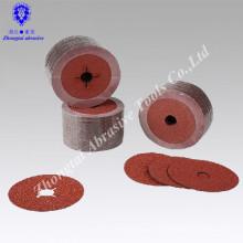 Fábrica directamente suministro de disco de fibra de tela de esmeril 6 pulgadas con agujero