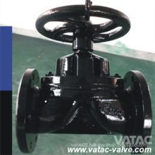 Cast Iron Gg25 Weir Type Pn16 FF Diaphragm Valve