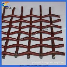 Treillis métallique serti à haute teneur en manganèse