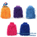 2018 New Product Factory manufacturer chenille microfiber car washing mitt Pink