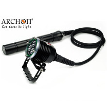 Archon Red Color Magnetic Switch Easy Control LED Diving Flashlights