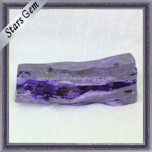 Matière première de gemme zircone cubique synthétique d'amarante