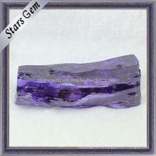 Сырье драгоценного камня Amaranth Synthetic Cubic Zirconia