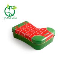 Christmas stocking shaped gift tins