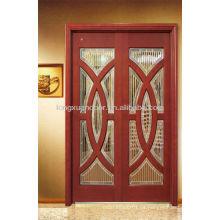 Hermosos diseños de puertas de madera Coposited con vidrio