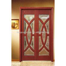 Lindos projetos de portas de madeira copositas com vidro