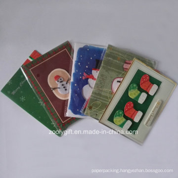 2D 3D Die-Cut Decorated Christmas Greeting Cards