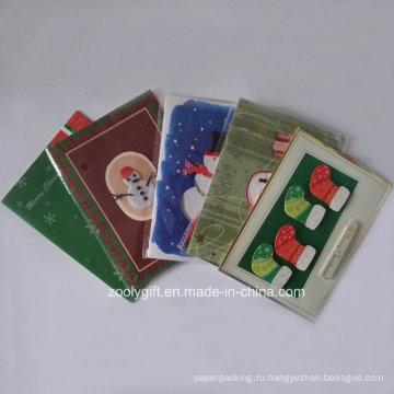 Декорированные рождественские поздравительные открытки 2D 3D Die-Cut