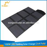 New Product 100W 18V Folding Solar Charger 2X4 Fold for Sale