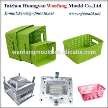 new design of plastic storage basket injection mold/custom design plastic storage basket injection mold